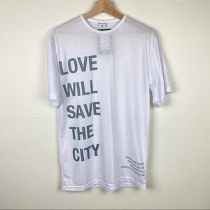 🆕 Love Will Save the City Graphic Tee Shirt